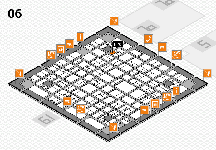 EuroShop 2017 hall map (Hall 6): stand B20