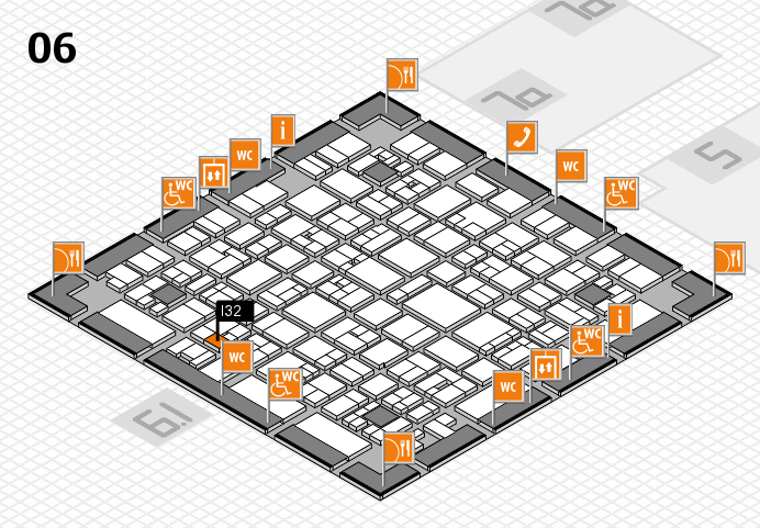 EuroShop 2017 hall map (Hall 6): stand I32