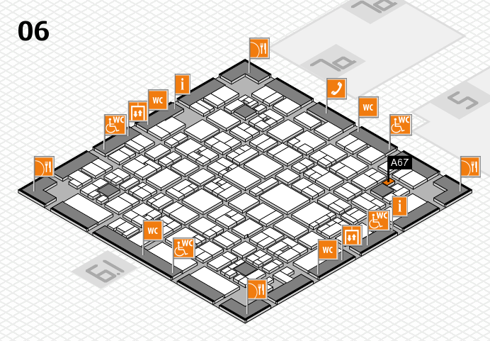 EuroShop 2017 hall map (Hall 6): stand A67