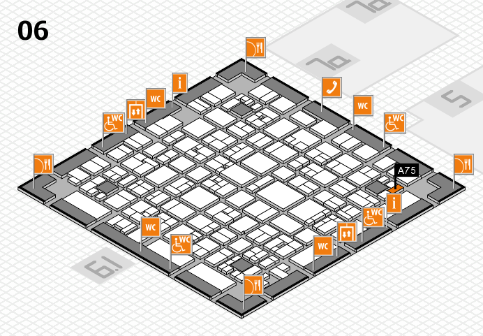 EuroShop 2017 hall map (Hall 6): stand A75