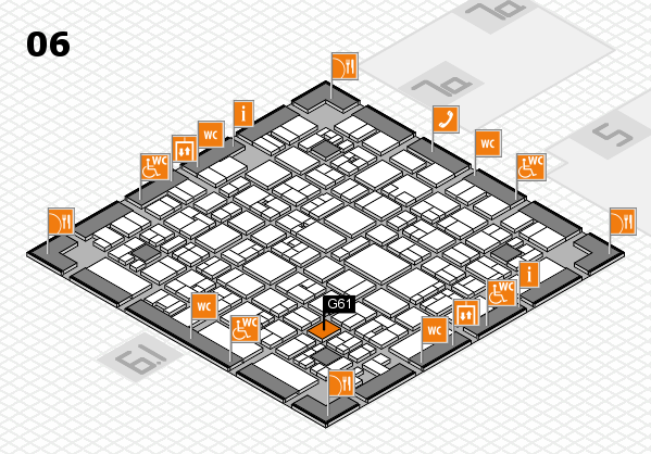 EuroShop 2017 hall map (Hall 6): stand G61