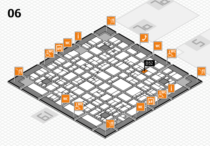 EuroShop 2017 hall map (Hall 6): stand B52