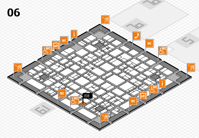 EuroShop 2017 hall map (Hall 6): stand I58