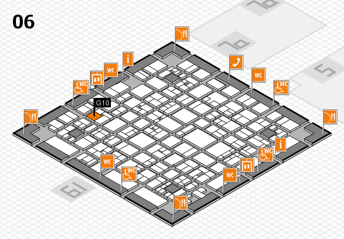 EuroShop 2017 hall map (Hall 6): stand G10