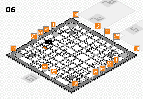 EuroShop 2017 hall map (Hall 6): stand F17