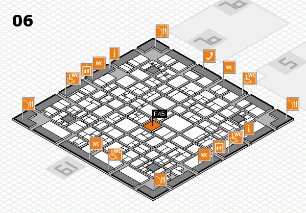 EuroShop 2017 hall map (Hall 6): stand E45