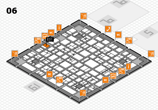 EuroShop 2017 hall map (Hall 6): stand E01