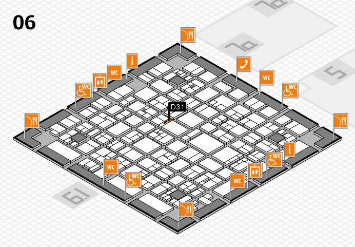 EuroShop 2017 hall map (Hall 6): stand D31