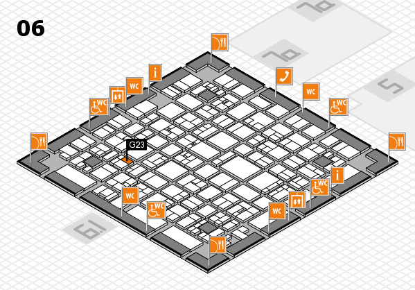 EuroShop 2017 hall map (Hall 6): stand G23