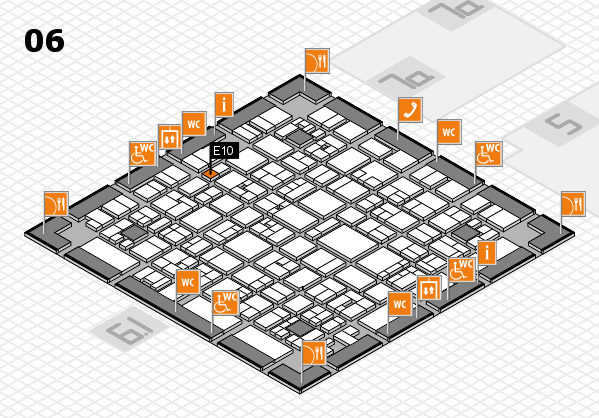 EuroShop 2017 hall map (Hall 6): stand E10