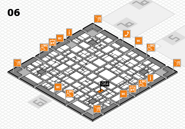 EuroShop 2017 hall map (Hall 6): stand G64