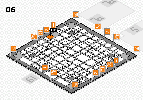 EuroShop 2017 hall map (Hall 6): stand D01