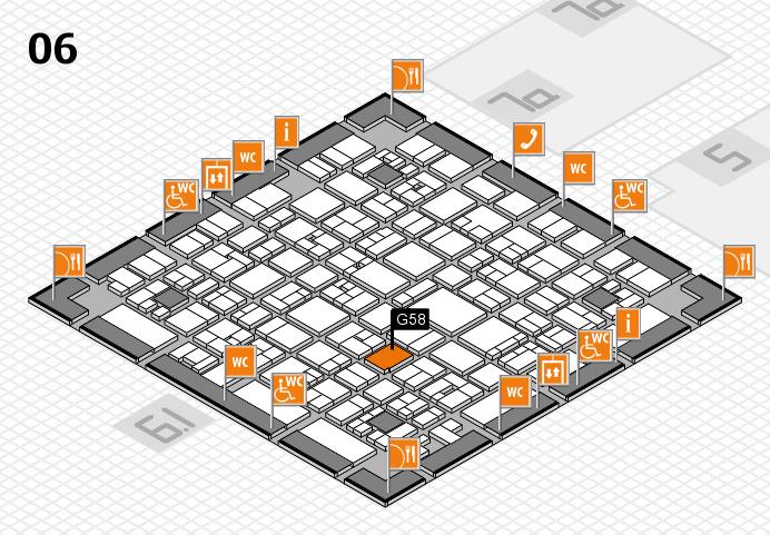 EuroShop 2017 hall map (Hall 6): stand G58