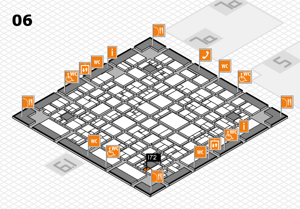 EuroShop 2017 hall map (Hall 6): stand I72