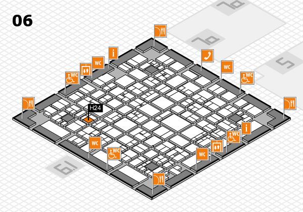 EuroShop 2017 hall map (Hall 6): stand H24