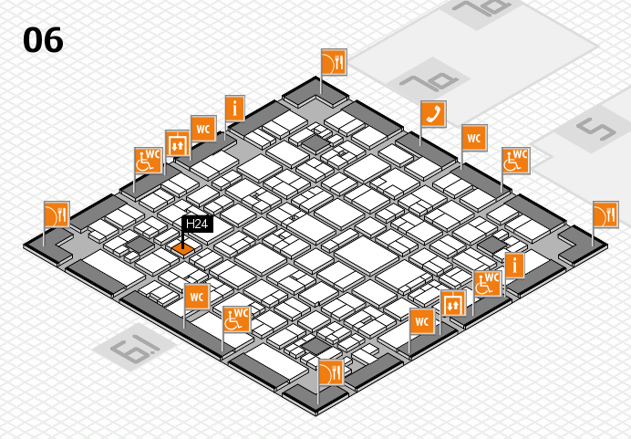 EuroShop 2017 hall map (Hall 6): stand H24