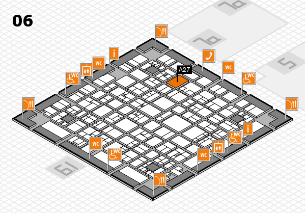 EuroShop 2017 hall map (Hall 6): stand A27