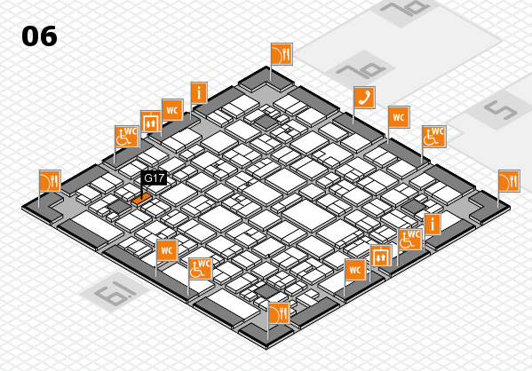 EuroShop 2017 hall map (Hall 6): stand G17