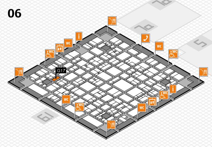 EuroShop 2017 hall map (Hall 6): stand G17