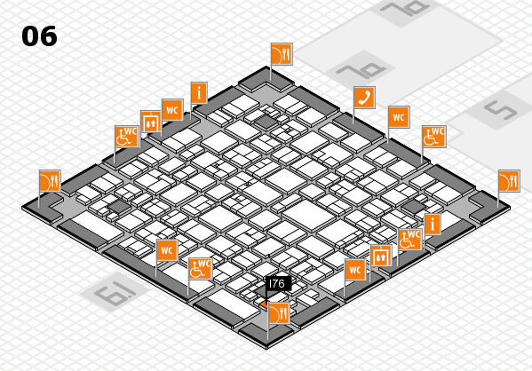 EuroShop 2017 hall map (Hall 6): stand I76