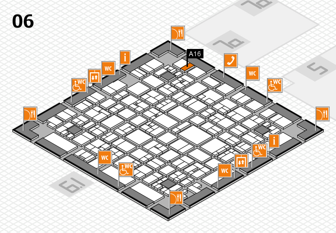 EuroShop 2017 hall map (Hall 6): stand A16