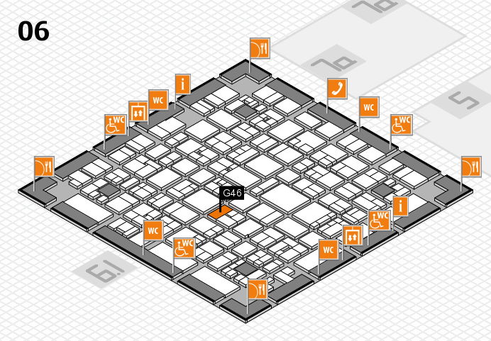 EuroShop 2017 hall map (Hall 6): stand G46