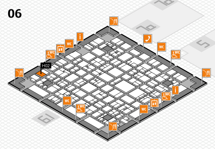EuroShop 2017 hall map (Hall 6): stand H02