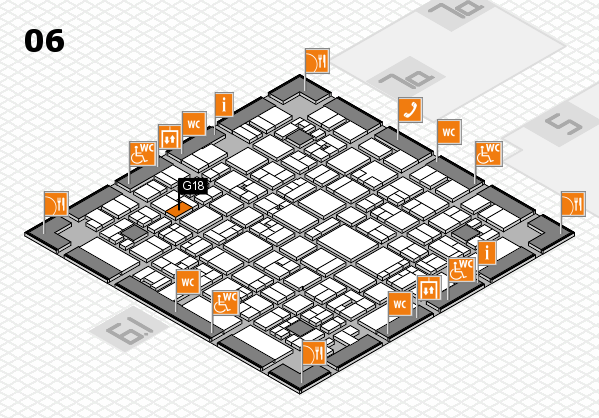 EuroShop 2017 hall map (Hall 6): stand G18