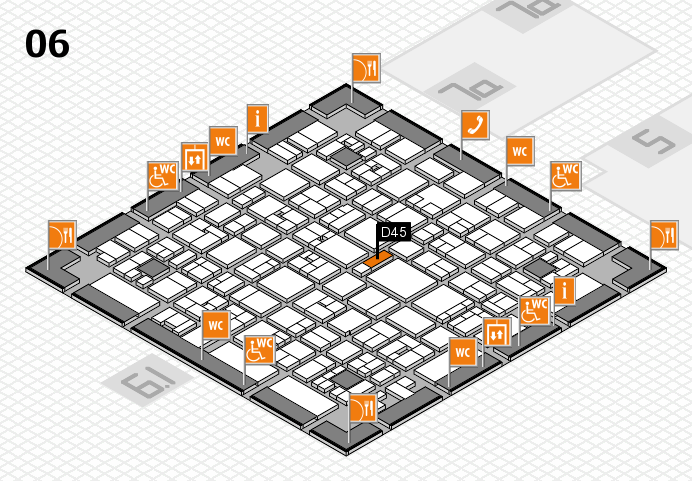 EuroShop 2017 hall map (Hall 6): stand D45