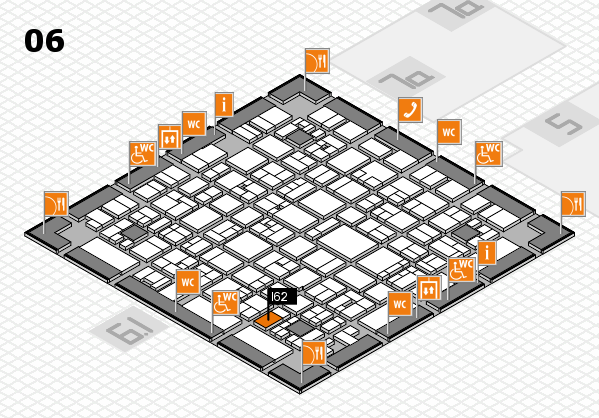 EuroShop 2017 hall map (Hall 6): stand I62