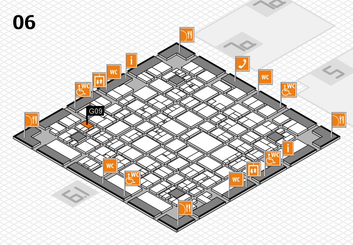 EuroShop 2017 hall map (Hall 6): stand G09