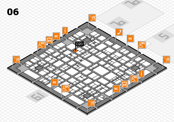 EuroShop 2017 hall map (Hall 6): stand D20