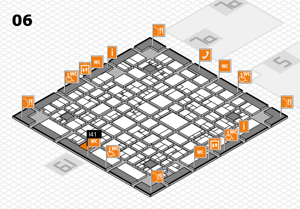 EuroShop 2017 hall map (Hall 6): stand I41
