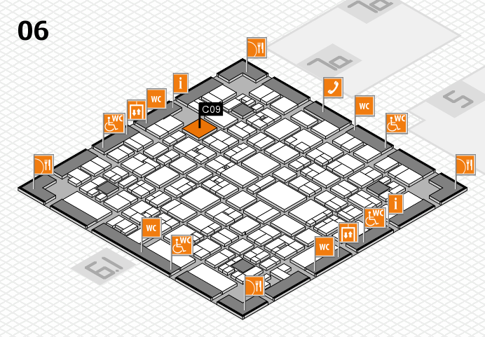 EuroShop 2017 hall map (Hall 6): stand C09