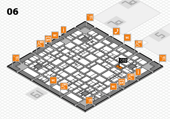 EuroShop 2017 hall map (Hall 6): stand C62