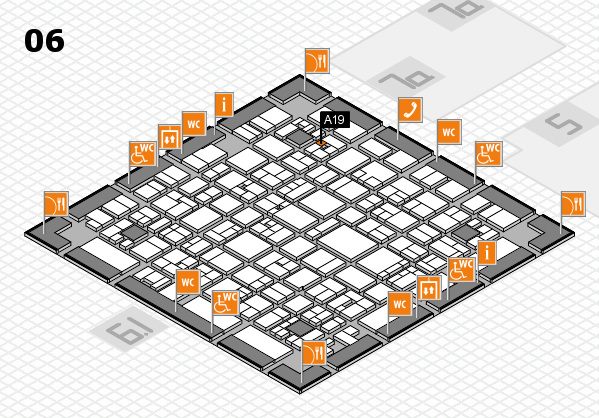 EuroShop 2017 hall map (Hall 6): stand A19