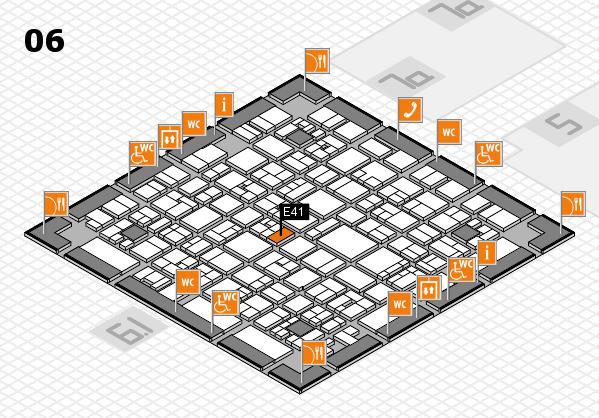 EuroShop 2017 hall map (Hall 6): stand E41