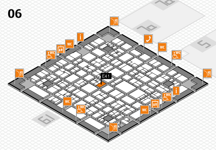 EuroShop 2017 hall map (Hall 6): stand E41