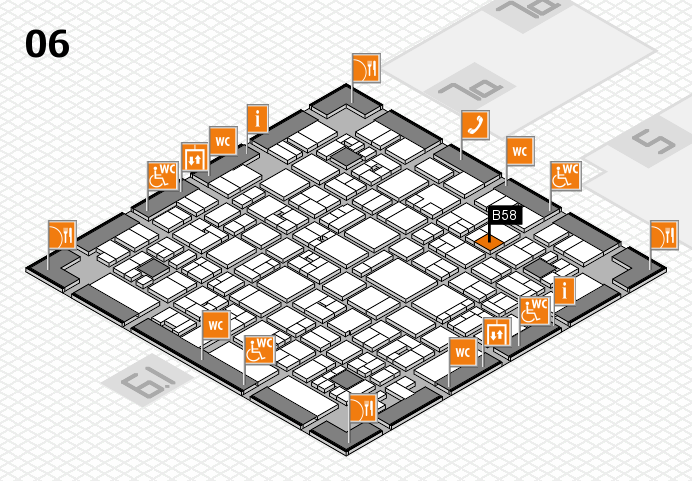 EuroShop 2017 hall map (Hall 6): stand B58