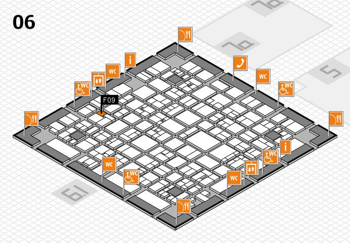 EuroShop 2017 hall map (Hall 6): stand F09