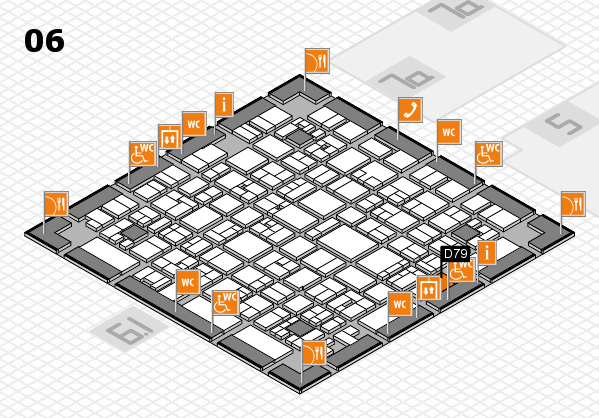 EuroShop 2017 hall map (Hall 6): stand D79
