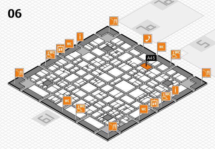 EuroShop 2017 hall map (Hall 6): stand A45