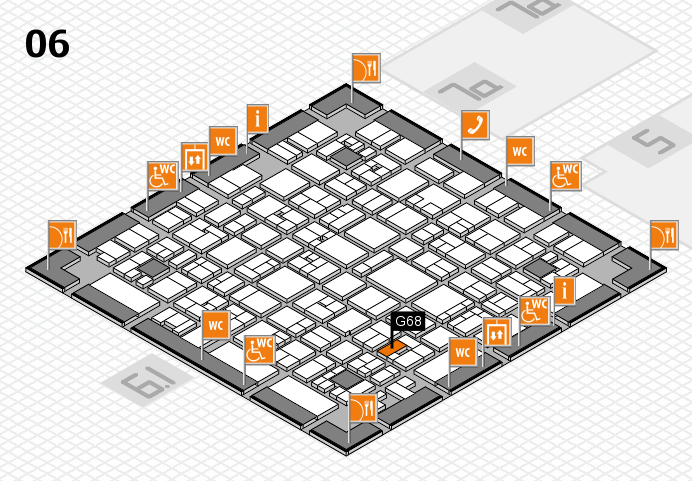 EuroShop 2017 hall map (Hall 6): stand G68