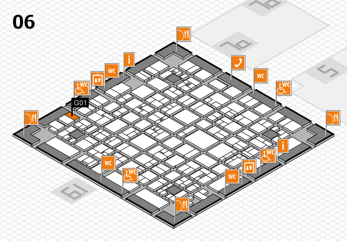 EuroShop 2017 hall map (Hall 6): stand G01