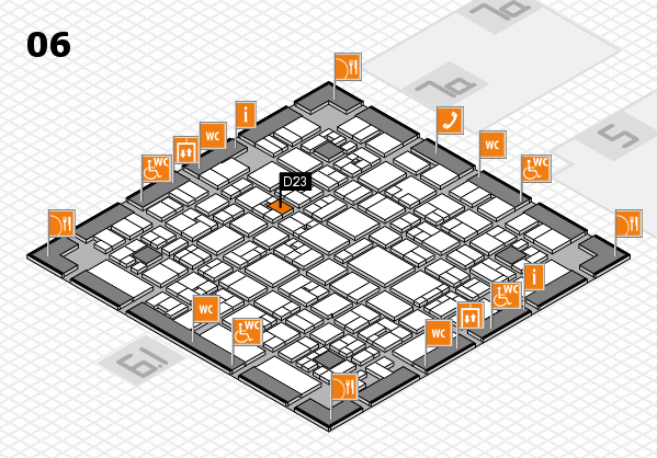 EuroShop 2017 hall map (Hall 6): stand D23