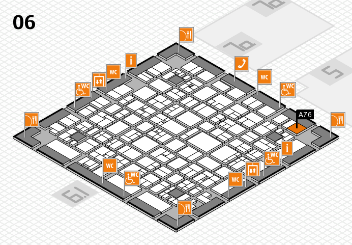 EuroShop 2017 hall map (Hall 6): stand A76