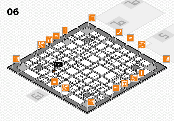 EuroShop 2017 hall map (Hall 6): stand H28