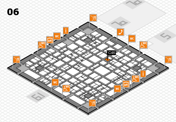 EuroShop 2017 hall map (Hall 6): stand C46