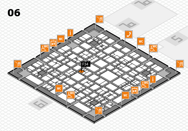 EuroShop 2017 hall map (Hall 6): stand F34