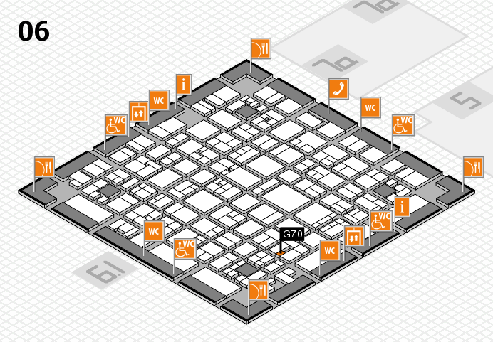 EuroShop 2017 hall map (Hall 6): stand G70